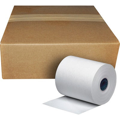 "3-1/8"" x 230' Thermal Receipt Paper Rolls 50/Box, BPA Free"