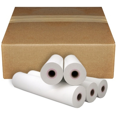 "8 1/2"" x 90' (216mm x 28m) Black Image Thermal Paper"