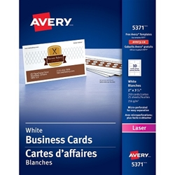 Business cards tent cards avery micro perforated business cards laser white uncoated 250pack reheart Choice Image
