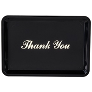 "Update Black and Gold Thank You Tip Tray, 4 1/2"" x 6 1/2"""