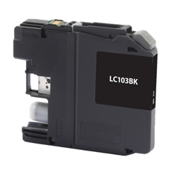 Brother LC103BK Black Inkjet Cartridge, High Yield, Compatible Brother LC103BK, LC103BK