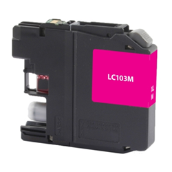 Brother LC103M Magenta Inkjet Cartridge, High Yield, Compatible Brother LC103M, LC103M