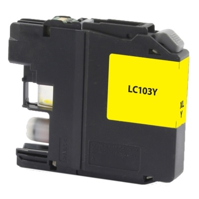 Brother LC103Y Yellow Inkjet Cartridge, High Yield, Compatible Brother LC103Y, LC103Y