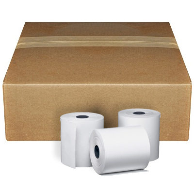"Clover Mobile - 2 1/4"" x 85 Thermal Receipt Paper Rolls BPA Free, 50/Box clover mobile, 2 1/4 x 85 thermal, 2 1/4 x 85, credit card machine paper"