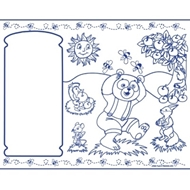 Kids Coloring Activity Sheet Placemats, Animal Theme - 100 Pack