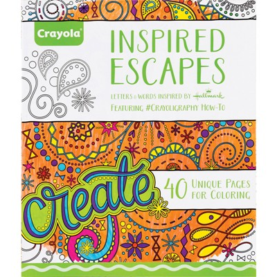 Crayola Inspired Escapes Adult Coloring Book, 40 Pages | #MCYOCBAIE ...