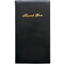Update Guest Check Presenter Folder, Card and Receipt Pockets, Black