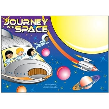 Kids Coloring Activity Sheet Placemats, Outer Space Theme - 100 Pack bulk Coloring Sheets, Activity Sheets, restaurant activity sheets, restaurant color sheets, Outer Space theme coloring sheets