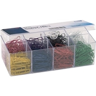 PVC-free Color-coated Paper Clips, No. 2 Size, 800/Box