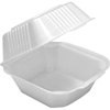 "Pactiv Foam Sandwich Take-Out Container, 6"" x 6"", 125/Case sandwich to go box, foam Take-Out Box, carry out container, Styrofoam container"