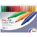 Pentel Arts Fine Point Color Pen Markers, 36 Assorted Colors - MMPFA36