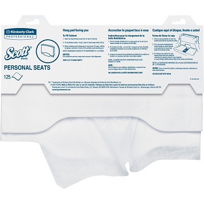 Scott Personal Seats Toilet Seat Covers 125 Pack