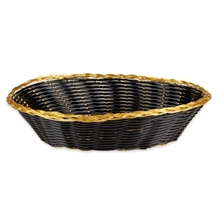 Update Oval Bread Basket, Black/Gold, 9""